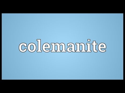 Header of colemanite