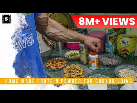 HOW TO MAKE PROTEIN POWDER AT HOME FOR BODYBUILDING | AMIT PANGHAL | PANGHAL FITNESS