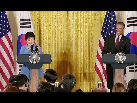 The President and the President of the Republic of Korea hold a Joint Press Conference