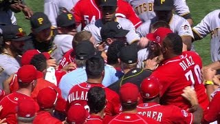 PIT@CIN: Watson plunks Phillips, benches clear in 8th