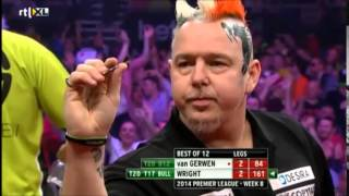Funny moments Peter Wright in match against Michael van Gerwen