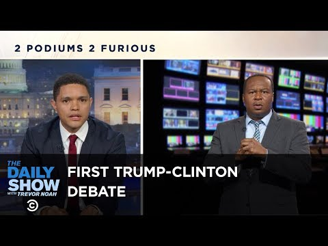 The Daily Show - Sparks Fly at the First Trump-Clinton Presidential Debate