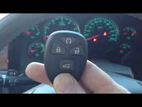 2007 GM tahoe LT key Fob Remote programming