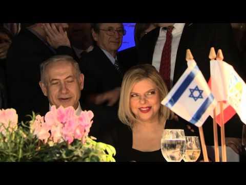 PM Netanyahu and Canadian PM Stephen Harper at a Dinner in Jerusalem