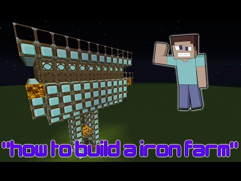 Minecraft- How To Make a Simple Iron Farm [1.7.10] (Sky Block, Survival, Faction