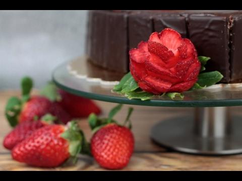 Jak Zrobić Różę Z Truskawki