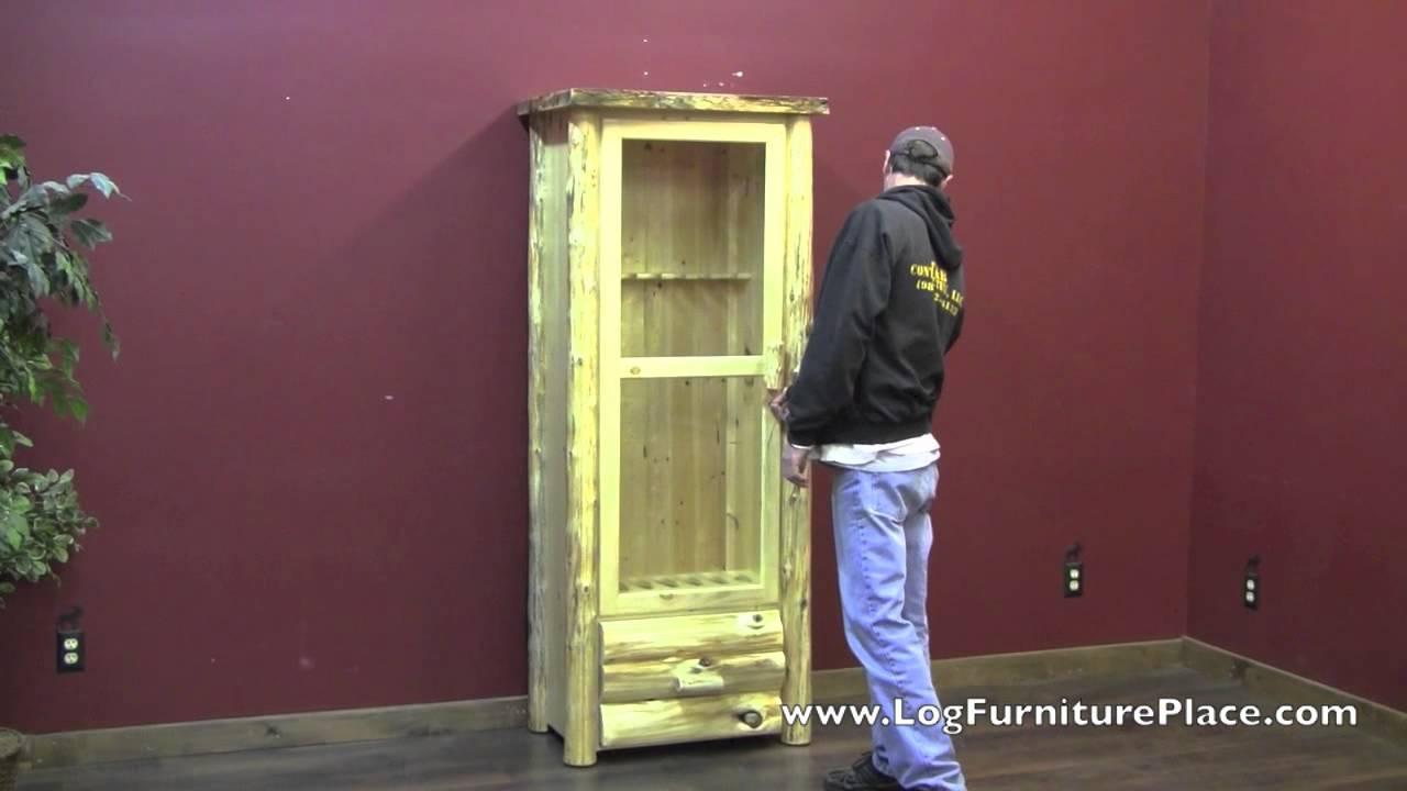 Cedar Lake Rustic Gun Cabinet From Logfurnitureplace Com