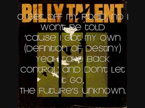 Billy Talent - Definition Of Destiny