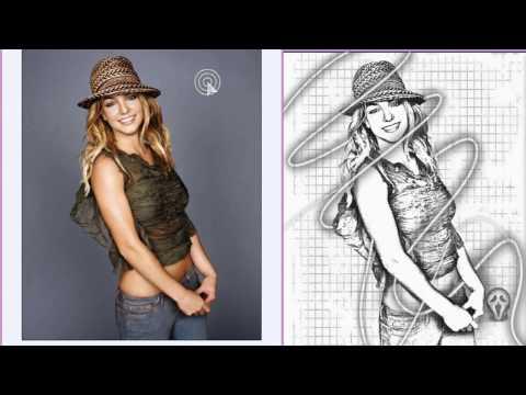Foto em desenho
