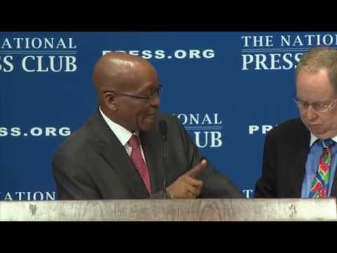 President Jacob Zuma of South Africa speaks at the National Press Club - Aug. 4, 2014