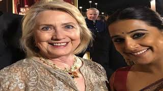 Latest Entertainment News - Asked to be introduced to someone 1st time: Vidya on seeing Hillary