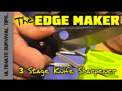 Edge Maker - Sharpen Dull Knives Quick - SHOT Show 2015 - Knife Sharpener