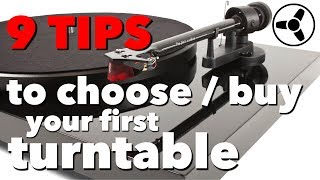 9 TIPS on how to choose / buy your first turntable
