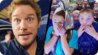 Chris Pratt Surprises Kids from the Set of Guardians of the Galaxy Vol. 2 // Omaze