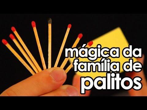 Mágica da família de palitos