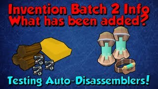 Invention Batch 2 - Info & Testing Machines! [Runescape 3] 2m+ Afk Gp/Day!