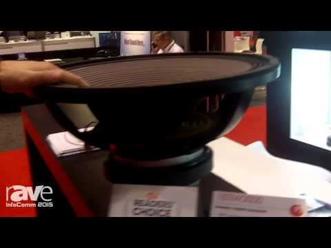 InfoComm 2015: Eighteen Sound Exhibits 18TLW3000 Extended LF Ferrite Transducer