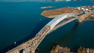 Time lapse shows progress of Bayonne Bridge construction project