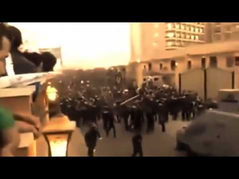 Police clashes with football Zamalek fans in Cairo Egypt