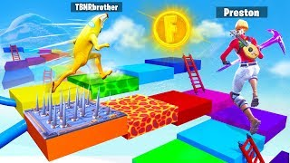 My Little Brother Gets 100K VBucks if He Wins (Fortnite Board Game)