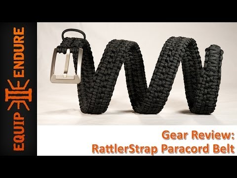 Rattlerstrap 550 Paracord Belt Review by Equip 2 Endure