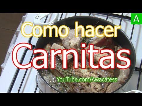 Carnitas , Como hacer Carnitas de Puerco... Receta de Carnitas ... a mi estilo. Carnitas Recipe