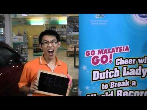 Dutch Lady 10,000 Cheers World Record Attempt - Zell Lee Teng Hui