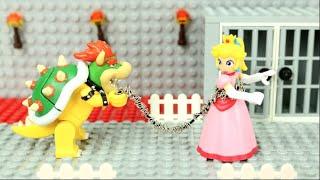 Mario Storms Bowser's Castle! Save Princess Peach! (Lego Stop Motion)