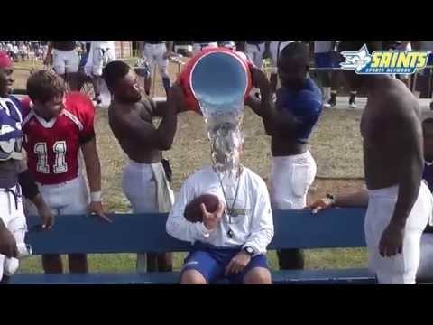 Limestone College Head Football Coach Bobby James Completes ALS Ice Bucket Challenge - 8/23/2014