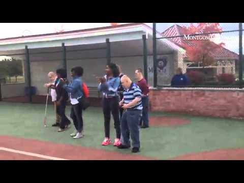 Residents from NHS Human Services enjoy a game of baseball at the Miracle League Field in Northampto - 10/01/2014