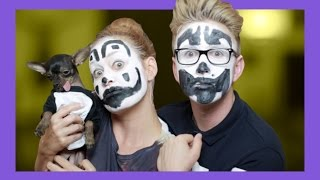 Insane Clown Makeup Tutorial (ft. Mamrie) | Tyler Oakley
