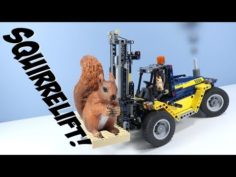 LEGO Technic Heavy Duty Forklift Speed Build Review 42079