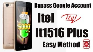Bypass Google Account Itel It1516 Plus Easy