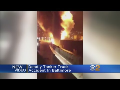 Caught On Camera: Tanker Truck Crash In Baltimore