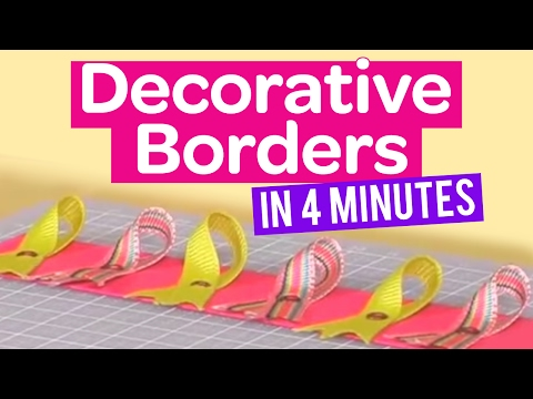 How to create decorative borders in 4 minutes youtube for Watch create and craft tv online