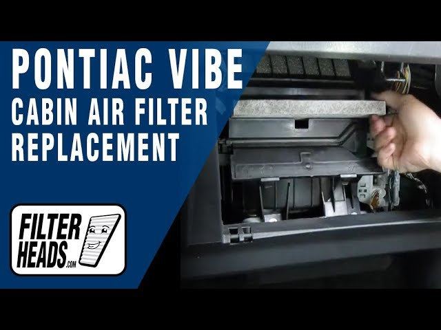 Cabin air filter replacement- Pontiac Vibe - YouTube