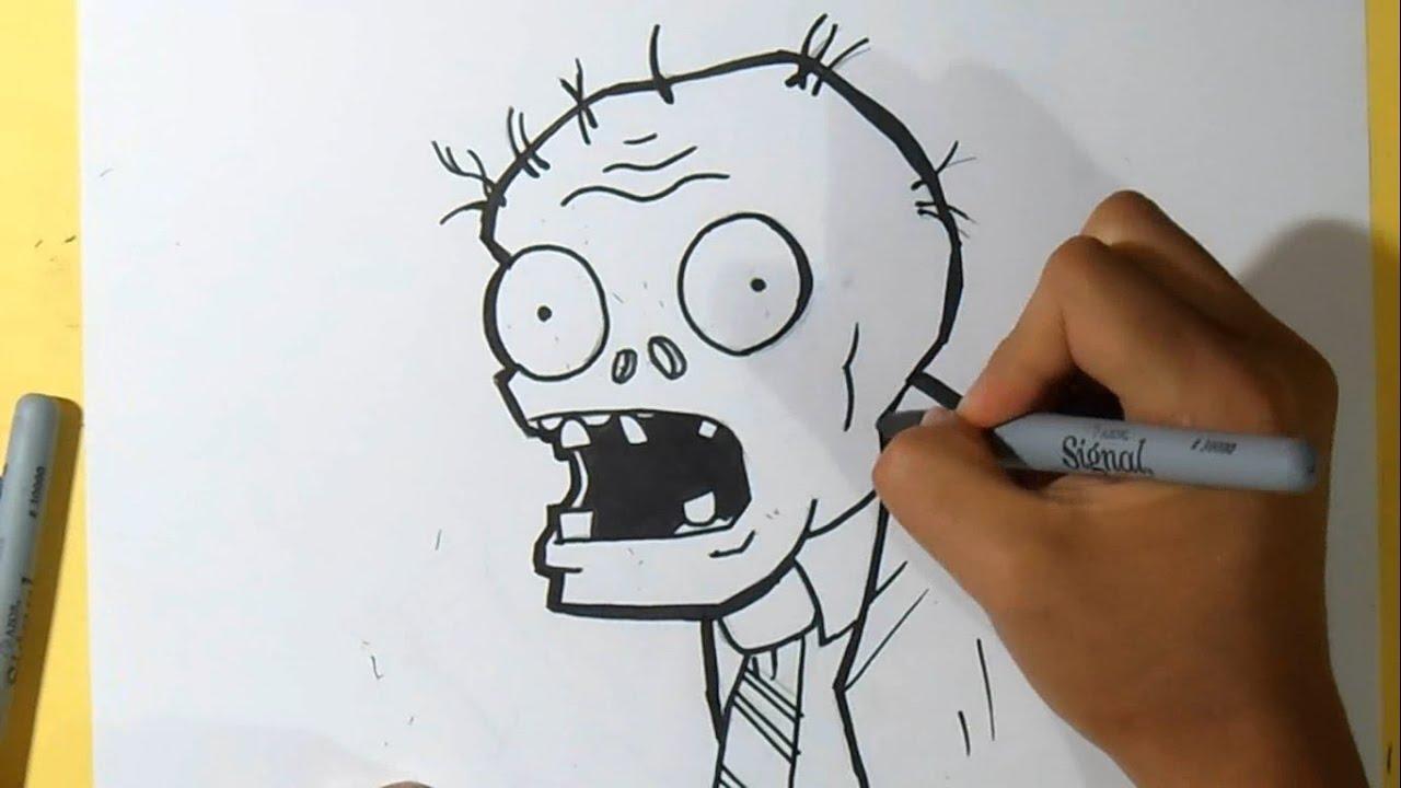Comment dessiner zombi plants vs zombies youtube - Comment dessiner un zombie ...