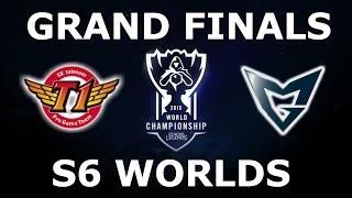 SKT vs SSG - Finals Full Series S6 LoL eSports World Championship 2016! SKT T1 vs Samsung