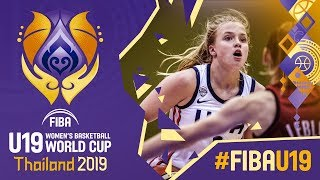 USA v Belgium - Full Game - FIBA U19 Women's Basketball World Cup 2019
