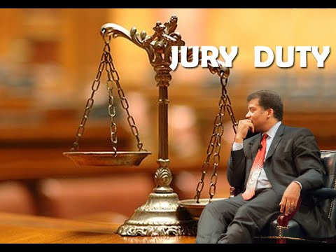 Neil deGrasse Tyson serving Jury Duty
