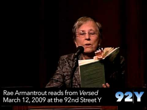 0 Rae Armantrout reading from her Pulitzer Prize winning book Versed