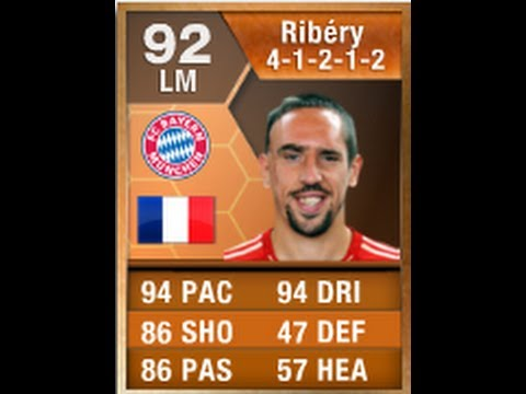 FIFA 13 MOTM RIBERY 92 Player Review & In Game Stats Ultimate Team