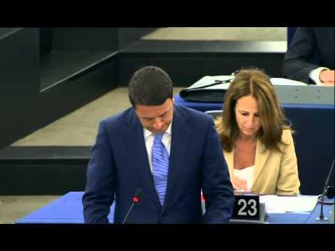 Discorso di Matteo Renzi al Parlamento Europeo di Strasburgo