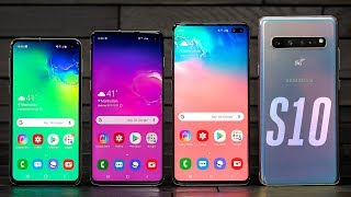 Samsung Galaxy S10 lineup hands-on