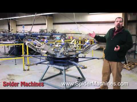 M&R Chameleon Manual Screen Printing Press - Robert Barnes - Spider Machines