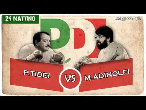 """PD, Tidei su Adinolfi: """" Tranquillizzate il giocatore di poker di professione"""" (24 mattina)"""