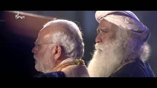 Adiyogi - Kailash kher live performance with PM Modi and Sadhguru