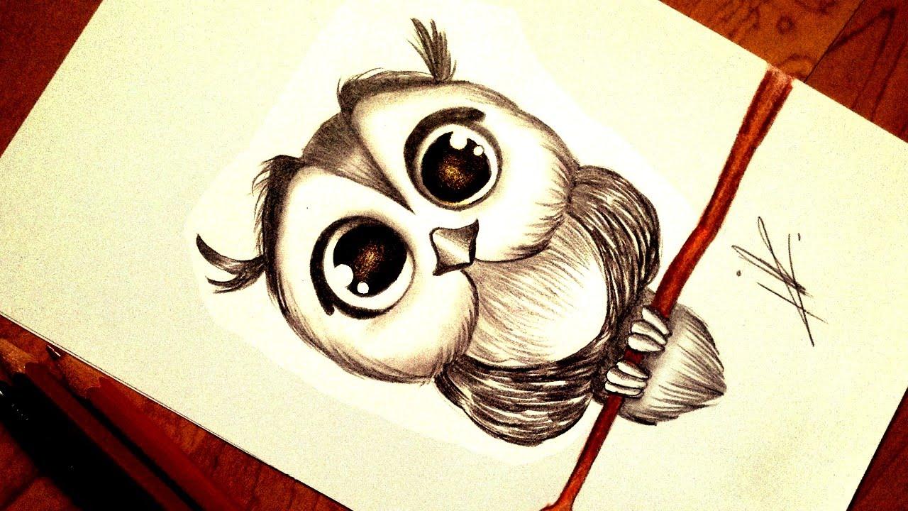 Owl Girl Drawing Drawing a Kawaii Baby Owl