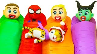 SUPERHERO BABY HAVING FUN WITH TIGER 💖 Play Doh Cartoons For Kids