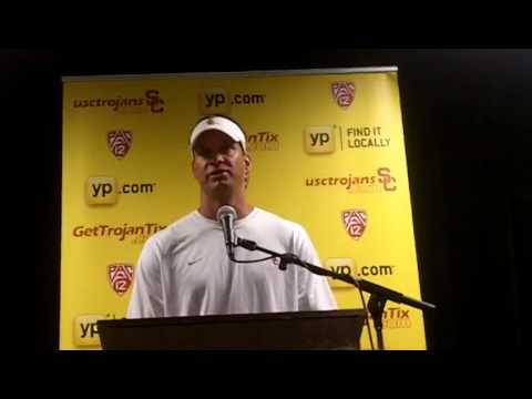 ESPNLA.com: USC coach Lane Kiffin talks after win over Syracuse 9/8/12